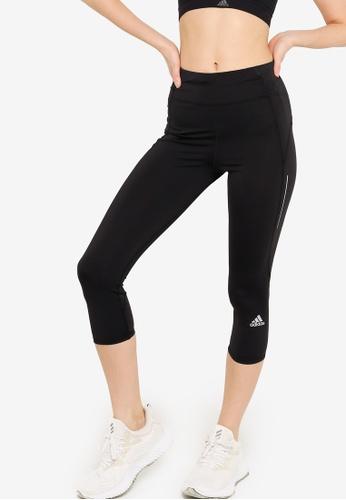ADIDAS black own the run 3/4 running leggings BAED2AA8ED2ED3GS_1