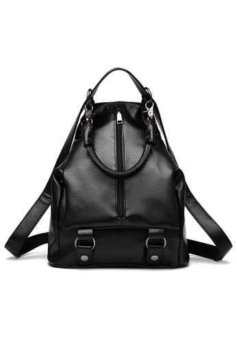 Vince black Korean Designed Minimalist BackPack ( Black ) VI456AC73URAMY_1