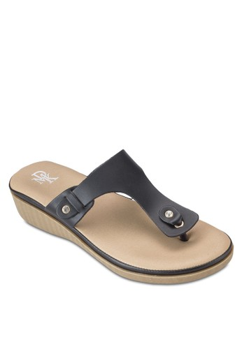 楔esprit au型跟夾趾拖鞋涼鞋, 女鞋, 鞋