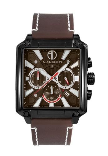 Alain Delon brown Alain Delon Men Chronograph Watch AD458-1742C 520AEAC8BCDED6GS_1