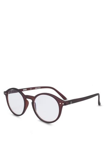 Izipizi 褐色 SCREEN #D Dark Wood +0.00  Screen Glasses 90172GL1F2B71CGS_1