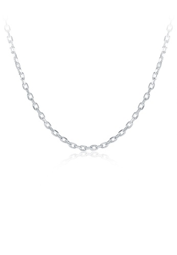 Glamorousky silver Fashion Simple 2MM Square Necklace 40cm 216F9AC4AA6E72GS_1