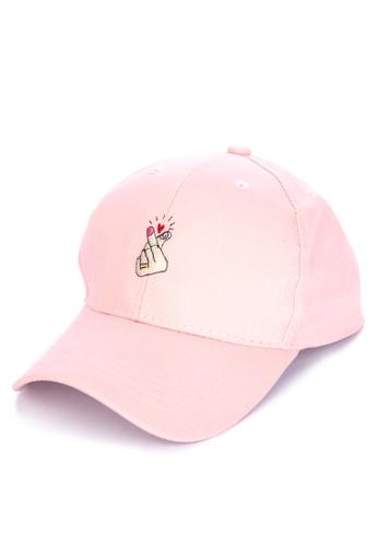 Kimberley pink Korean Finger Heart Baseball Cap DA9D4ACECDF0E6GS_1