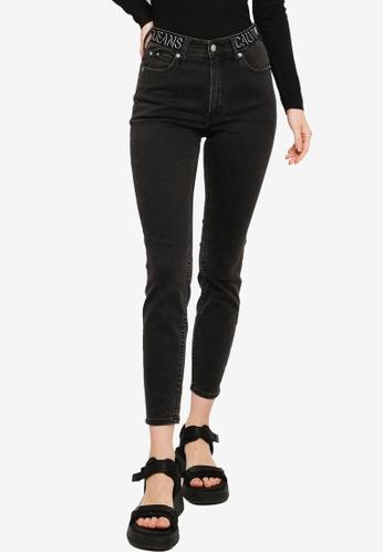 Calvin Klein black High Rise Skinny Jeans - CK Jeans 3B85FAA6693590GS_1