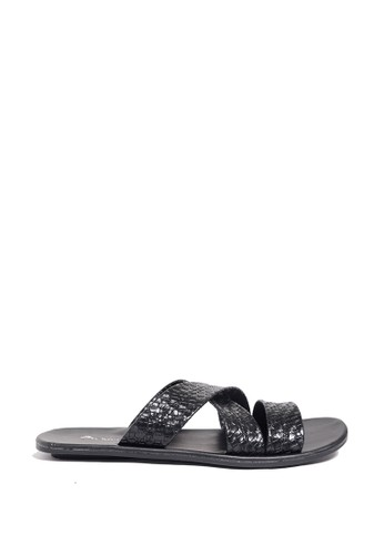 Dr. Kevin black Dr. Kevin Mens Clasic Leather Sandal 17214 - Black DR982SH0US9MID_1