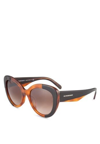 Burberry black Burberry BE4253F Sunglasses BU958GL0ROS3MY_1