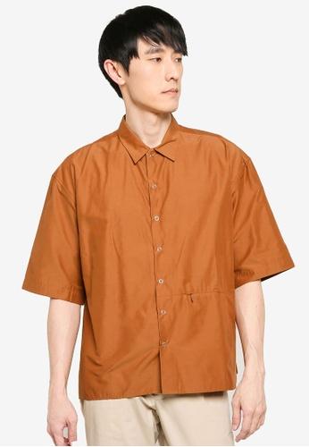 niko and ... brown Solid Coloured Shirt 71880AA44396BFGS_1