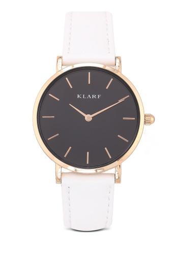 Klarf white Petite Watch With Leather Bracelet A0CF5ACB4F9281GS_1