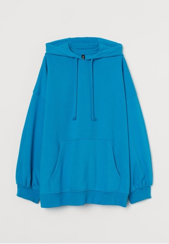 H&M blue Oversized Hoodie 08F59AA215D3BCGS_1