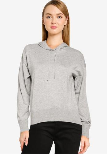 Vero Moda grey Daw Long Sleeve Knit Hoodie 75C9BAA2FB8455GS_1