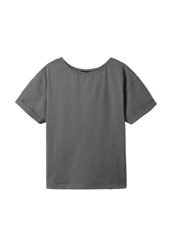 Cheetah grey C Union Casual Short Sleeves Tee - CUL-90872-C1 D3B49AAE0E2F1CGS_1