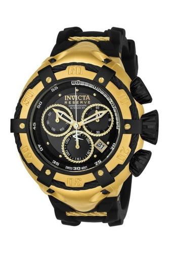 INVICTA gold Invicta Bolt Men 52mm Case Gold, Black Stainless Steel, Silicone Strap Black Dial Quartz Watch 21353 IN968AC0F5D4SG_1