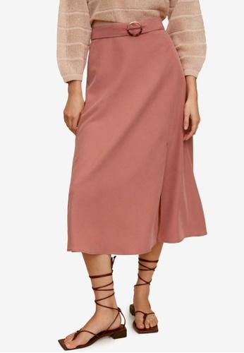 Mango pink Modal Skirt B7A12AA76FC060GS_1