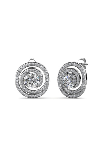 Her Jewellery silver Swarovski® Crystals - Mystiq Earrings (18K White Gold Plated) Her Jewellery HE581AC0RBPEMY_1
