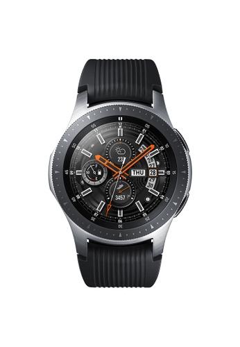 Samsung black and silver Galaxy Watch 46mm Bluetooth Silver B417DAC8BE7DA9GS_1