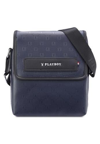 Playboy blue Playboy Sling Bag PL371AC10MSNMY_1