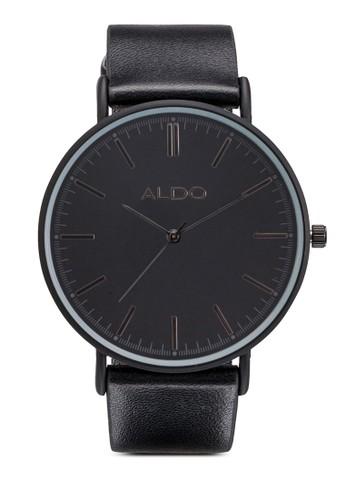 Serlin 皮革圓框esprit台灣網頁手錶, 錶類, 女裝手錶