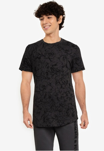 Abercrombie & Fitch black Curved Hem T-Shirt EB502AAE771483GS_1