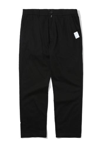 izzue black Basic chino pants 867E7AAA14A889GS_1