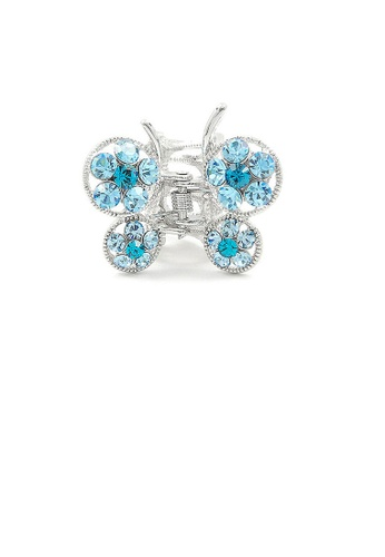 Glamorousky blue Butterfly Clamp in Blue Austrian Element Crystals 7B015ACDD1325BGS_1