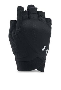 Under Armour black UA Flux Training Gloves UN337AC0SU38MY 1 615ad33dc