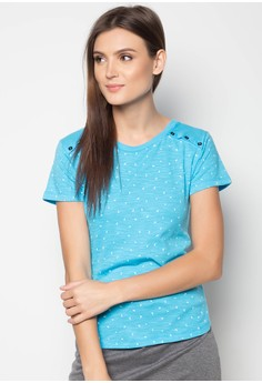 Short Sleeved Tee with All-Over Print