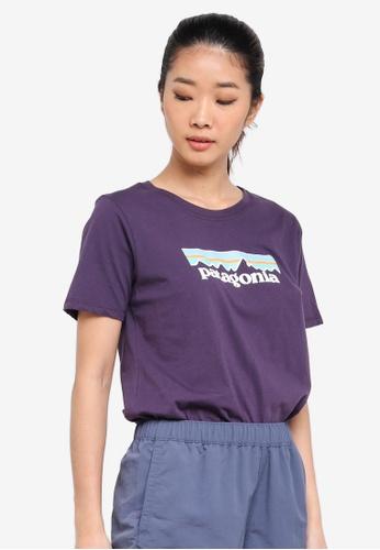 Patagonia purple Pastel P-6 Logo Cotton Crew T-Shirt PA549AA0SVMCMY_1