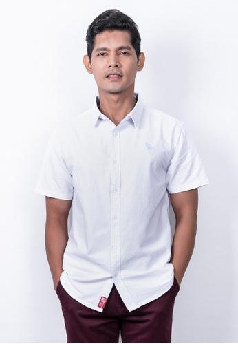 MILANO white Milano Men Woven Short Sleeve Shirt 2A725AA55FE8E0GS_1