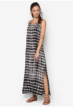 Tie Dye Slit Maxi Dress