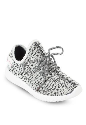 TW28 印esprit mongkok花繫帶運動鞋, 女鞋, 休閒鞋