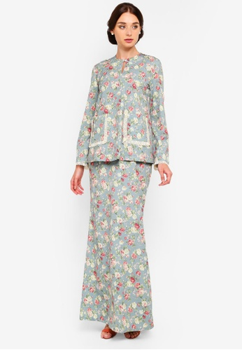 Heather Front Pocket Kurung from Rizalman for Zalora in Multi