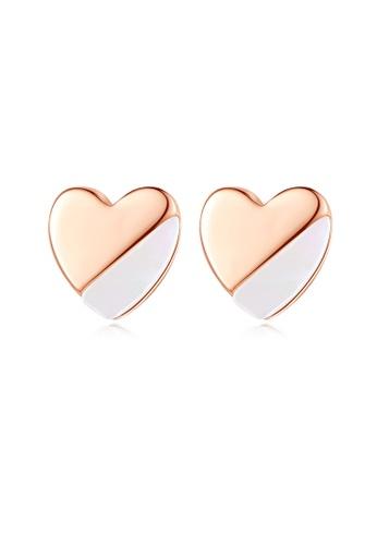 SUNRAIS silver High quality Silver S925 silver heart earrings 47A64AC2E63879GS_1