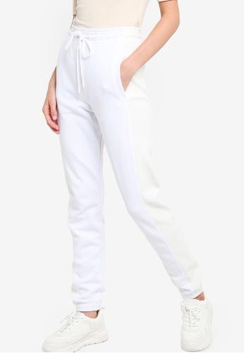 ck Calvin Klein white VALENTINE TERRY TOP WITH OTTOMAN KNIT ZIP-UP D9518AAF18DE6CGS_1