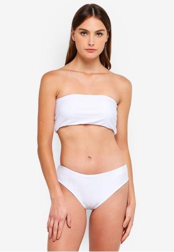 PINK N' PROPER white Basic Tube High-Cut High-Waist Bikini Set A8520US9620042GS_1