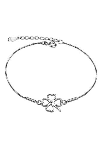 YOUNIQ silver YOUNIQ Lucky Clover 925 Sterling Bracelet (Silver) 72ED6AC2D507F5GS_1