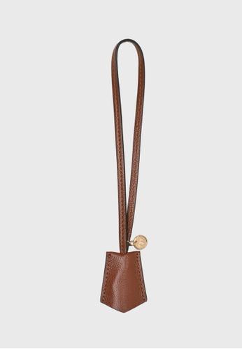 Tocco Toscano brown Lunar Lumine Leather Bag Charm (Rust) AD1A8ACB1E15AFGS_1