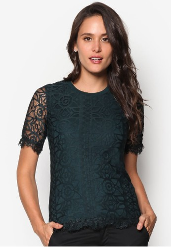 蕾絲短袖T-shirt、 服飾、 上衣DorothyPerkins蕾絲短袖上衣最新折價