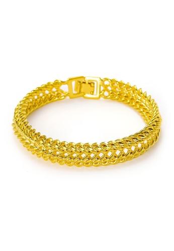 YOUNIQ gold YOUNIQ Premium Charming 24k Plated Classic Chain Bracelet (Gold) - Men F0BCAAC422732AGS_1