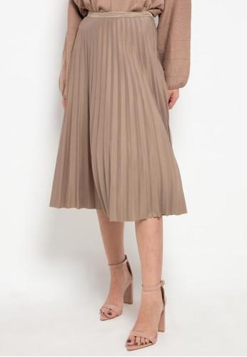 Icons brown Pleated Skirt 10DAFAA6712613GS_1