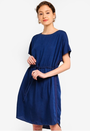 f68a3c256cad Buy ESPRIT Denim Shift Dress Online on ZALORA Singapore