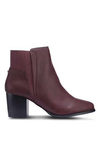 Dorothy Perkins red Burgundy Avenue Heeled Boots A4DADSHD12DC4EGS_1