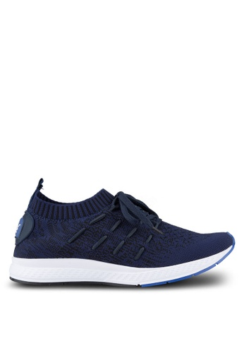 Louis Cuppers blue Knitted Sneakers LO977SH03REEMY_1