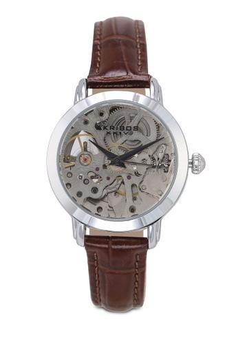 Akribos XXIV brown Automatic Skeletal Watch 3F361AC7820AFCGS_1