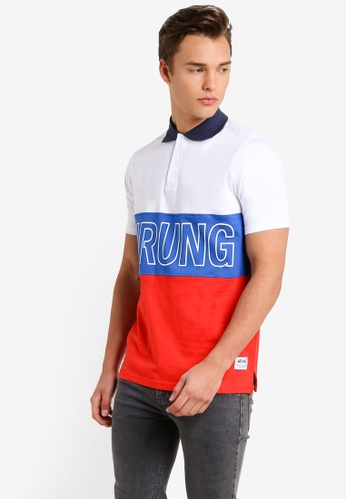 Wrung white and multi Sports Polo Shirt WR395AA73MQCMY_1