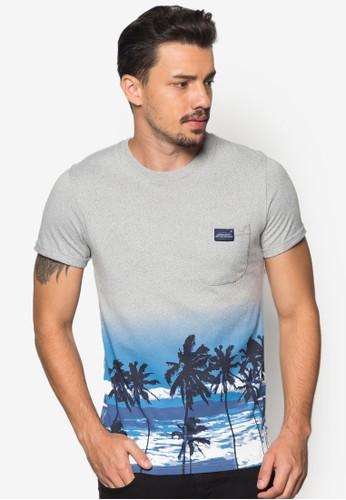 Skandia 海浪印花純棉TEEzalora 內衣, 服飾, T恤