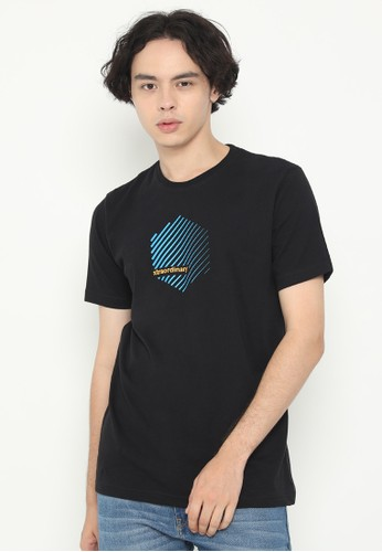XTRAORDINARY (XO) black Graphic Cotton Combed Fashion Tee 7E961AA97F2C58GS_1