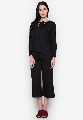 Chloe Edit black Tie Top And Culotted Co-Ordinates CH672AA0JUHAPH_1