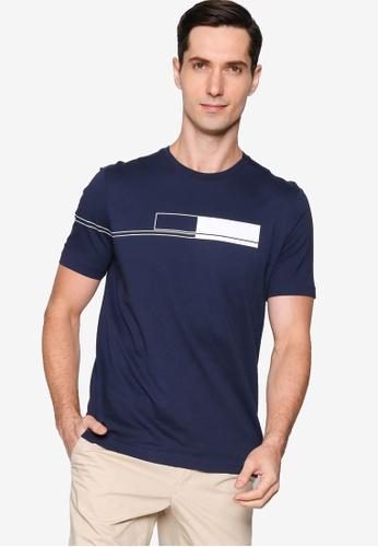 BOSS navy Block Logo T-Shirt 477BBAA0775AA6GS_1
