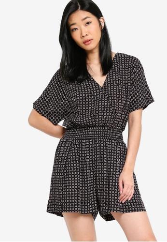Something Borrowed black Kimono Sleeves Playsuit 04F90AA4679FBCGS_1