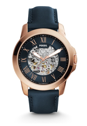 Fossil blue Fossil Grant Blue Leather Watch ME3102 FO164AC34NBLMY_1